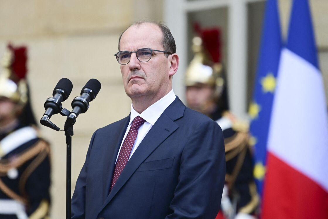 Jean Castex lors de la passation de pouvoir à Matignon avec Edouard Philippe, à Paris, le 3 juillet 2020.