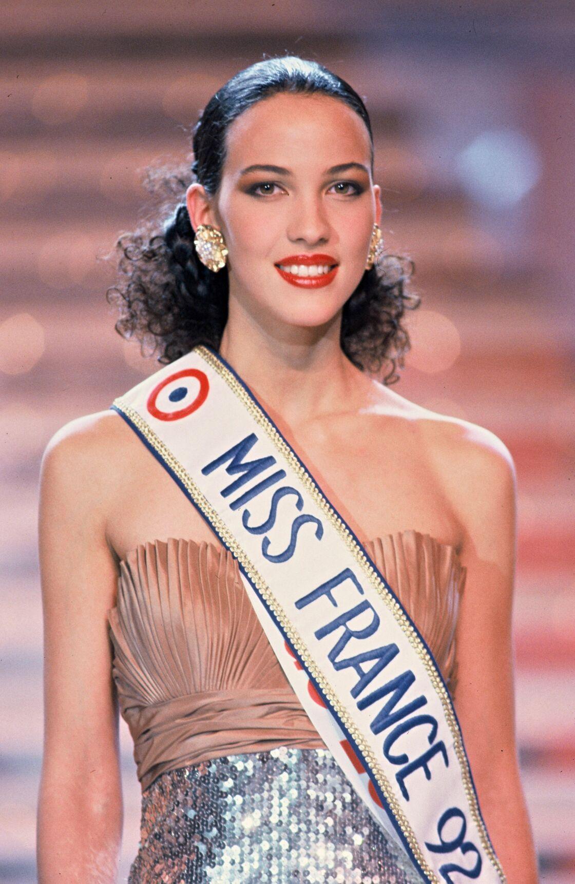 Linda Hardy, Miss France 1992, le soir de l'élection le 30 décembre 1991