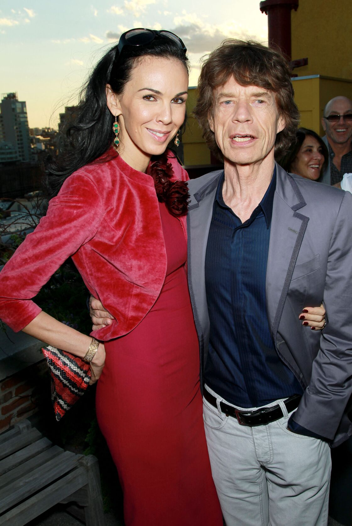 L'Wren Scott et Mick Jagger à New York, le 6 mai 2010
