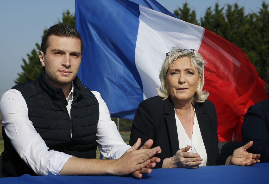 Jordan Bardella et Marine Le Pen en 2019.