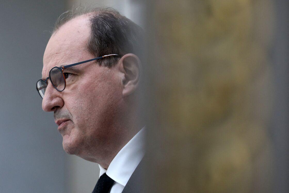 Jean Castex au palais de l'Élysée ce mercredi 28 avril, à Paris