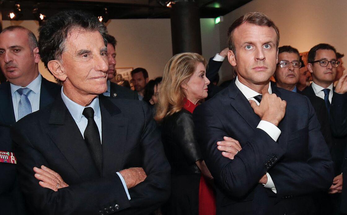 Emmanuel Macron et Jack Lang à l'Institut du Monde Arabe à Paris, le 25 septembre 2017.