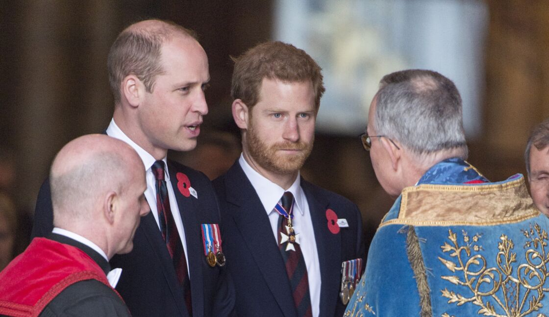 Le prince Harry et William