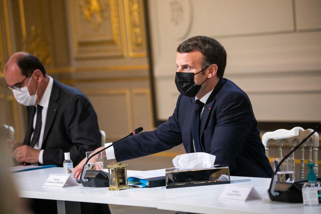 Emmanuel Macron au palais de l'Élysée ce jeudi 29 avril 2021