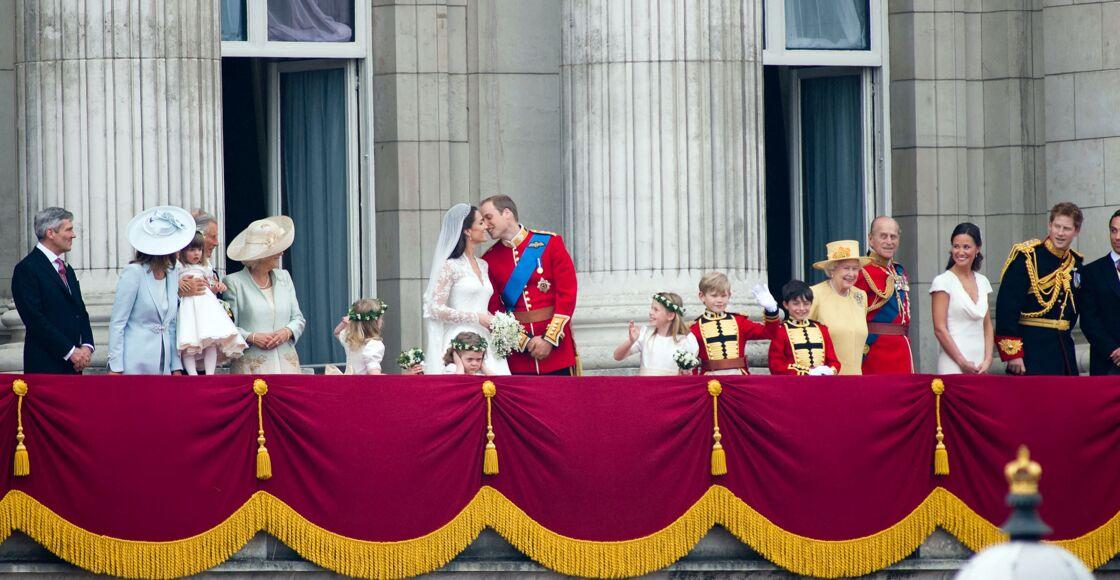 Le prince William et Kate Middleton sur le balcon de Buckingham Palace, le 29 avril 2011.