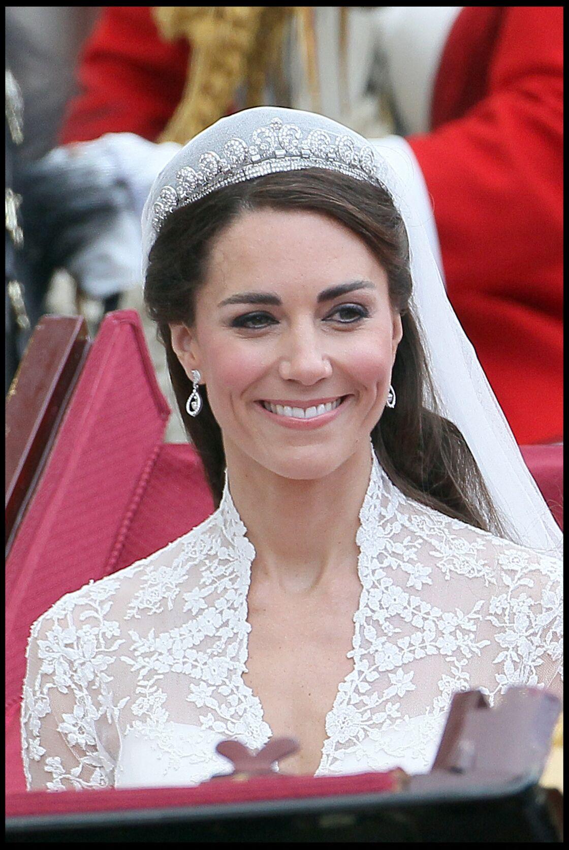 Kate Middleton le jour de son mariage avec le prince William, le 29 avril 2011à Londres.