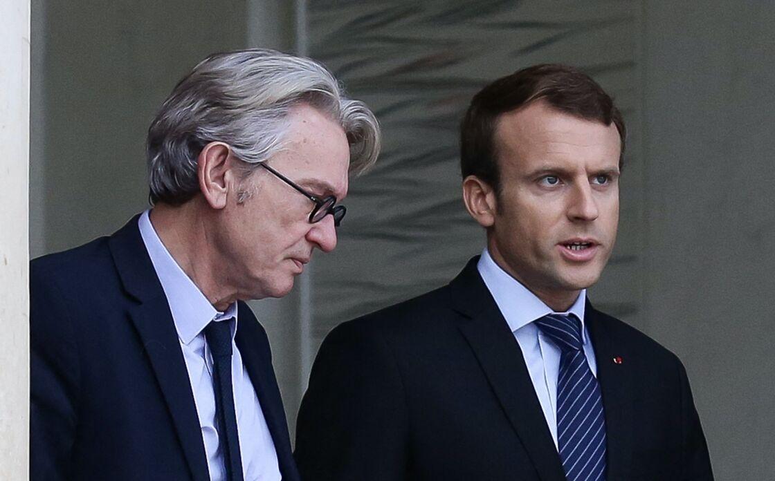 Emmanuel Macron et Jean-Claude Mailly à l'Elysée, le 12 octobre 2017
