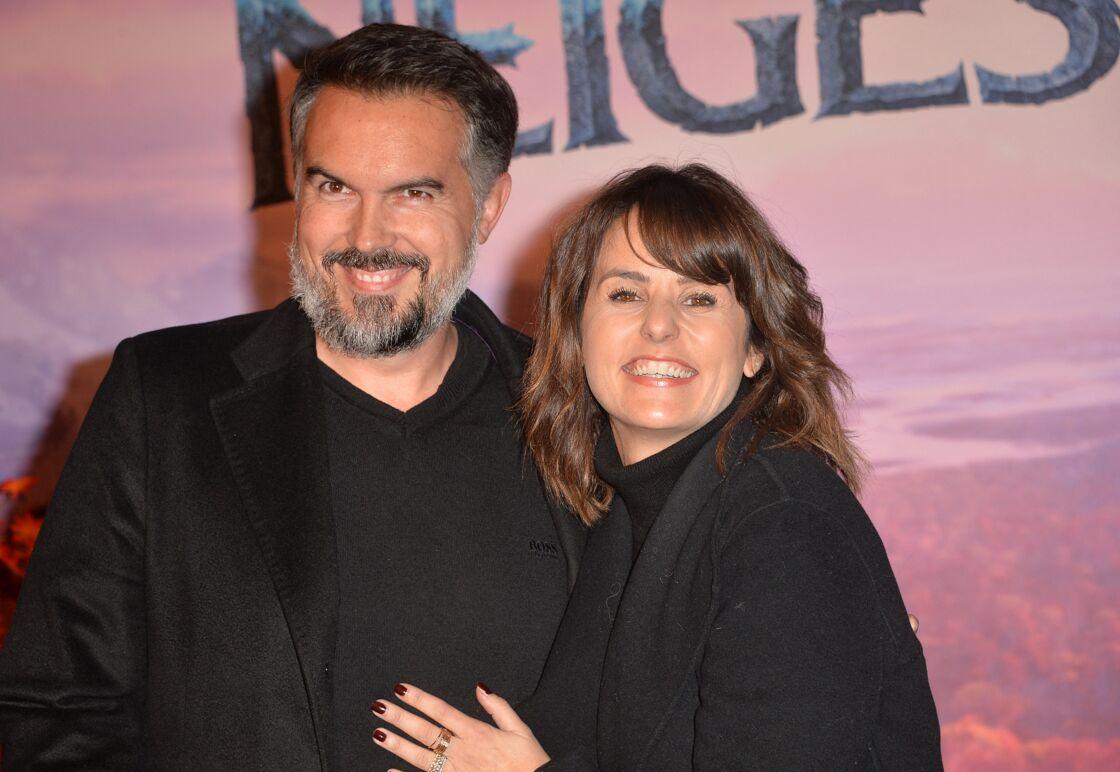 Faustine Bollaert et son mari Maxime Chattam à Paris le 13 novembre 2019.