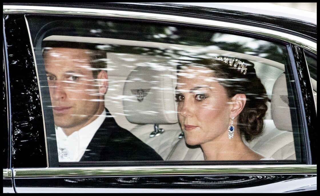 Kate Middleton et son mari arrivent au dîner d'Etat en présence de Donald Trump