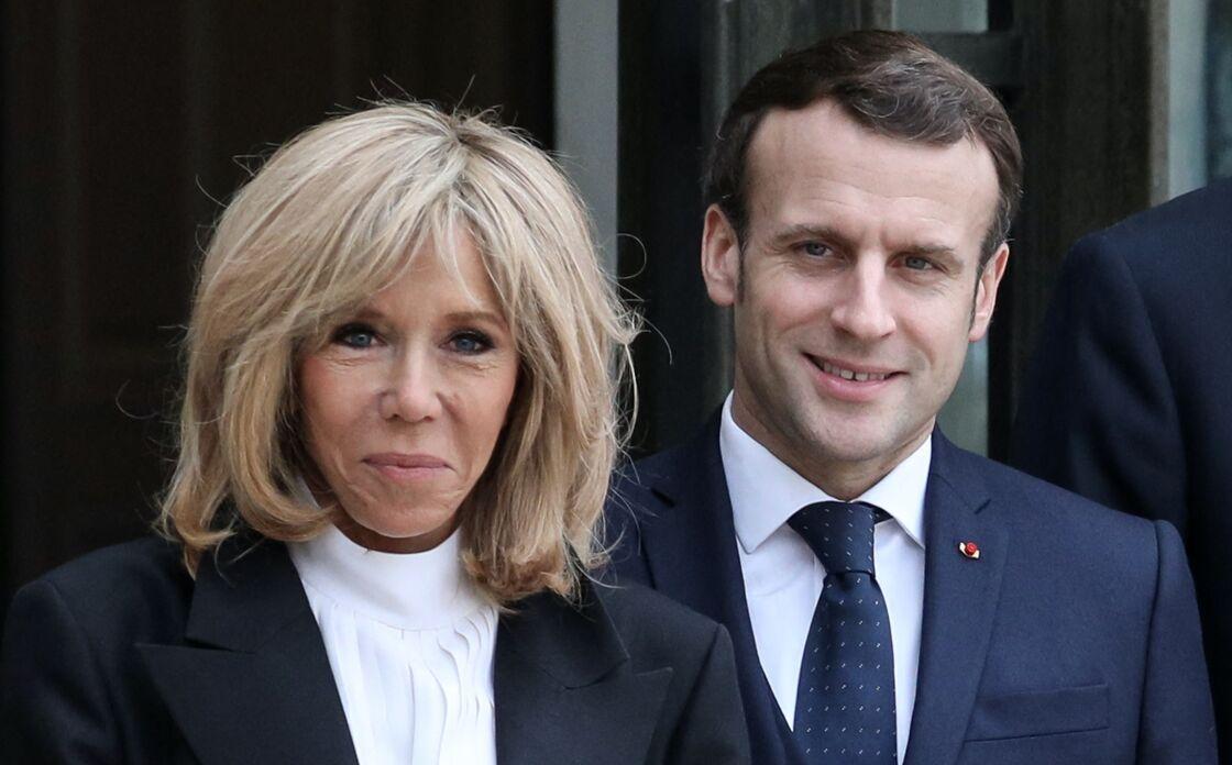 Emmanuel et Brigitte Macron le 11 mars 2020 à Paris