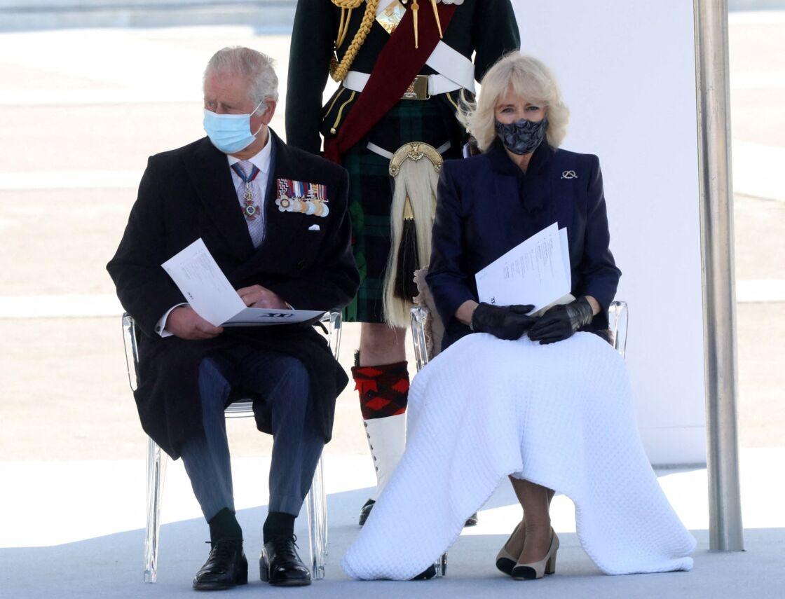 Le prince Charles et Camilla Parker Bowles le 25 mars 2021 en Grèce