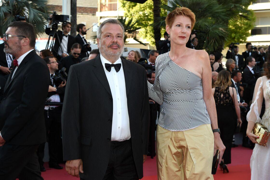 Natacha Polony et son mari Périco Légasse, lors de la montée des marches du film « L'Homme qui tua Don Quichotte » lors du Festival de Cannes, le 19 mai 2018.