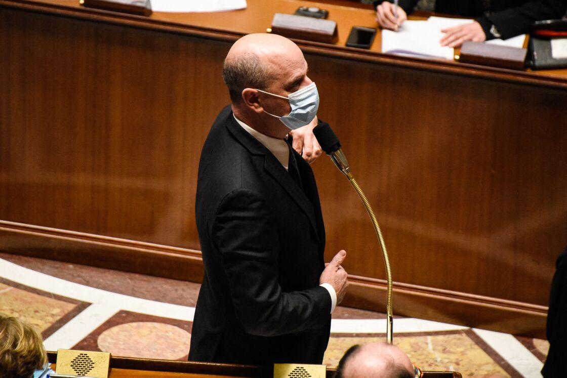 Le ministre de l'Éducation nationale, Jean-Michel Blanquer, lors des questions au gouvernement à l'Assemblée Nationale, à Paris, le 26 janvier 2021.