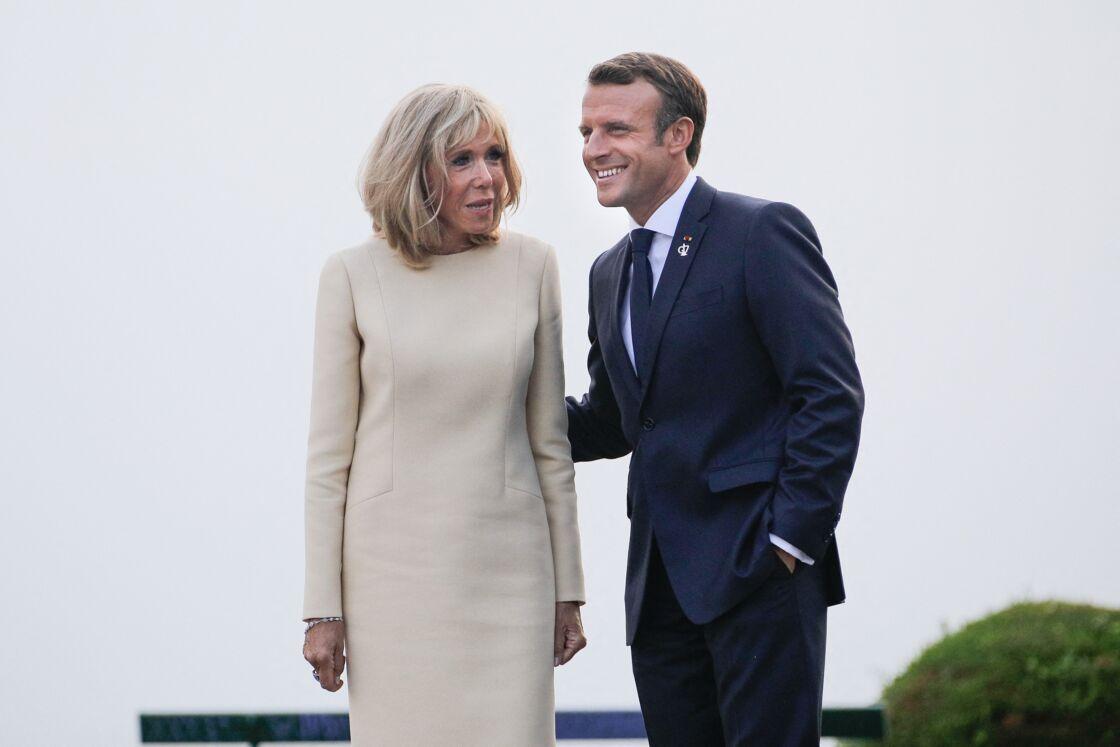 Brigitte et Emmanuel Macron à Biarritz le 24 août 2019