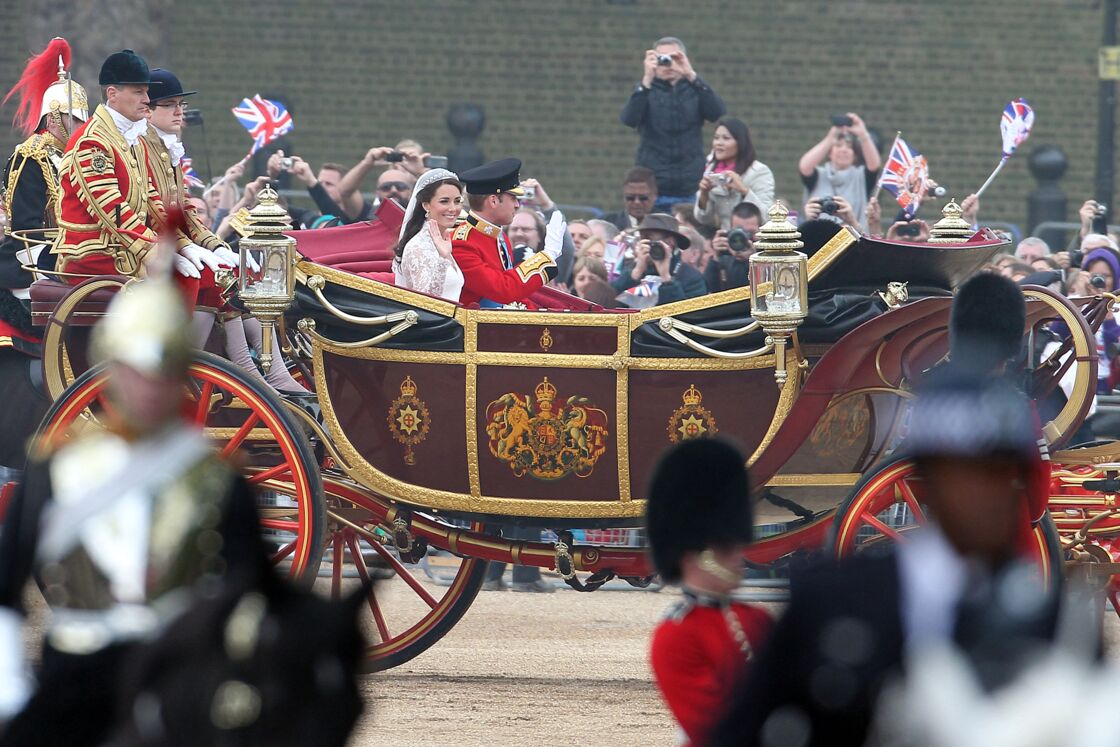 Kate Middleton et le prince William lors de leur mariage le 29 avril 2011