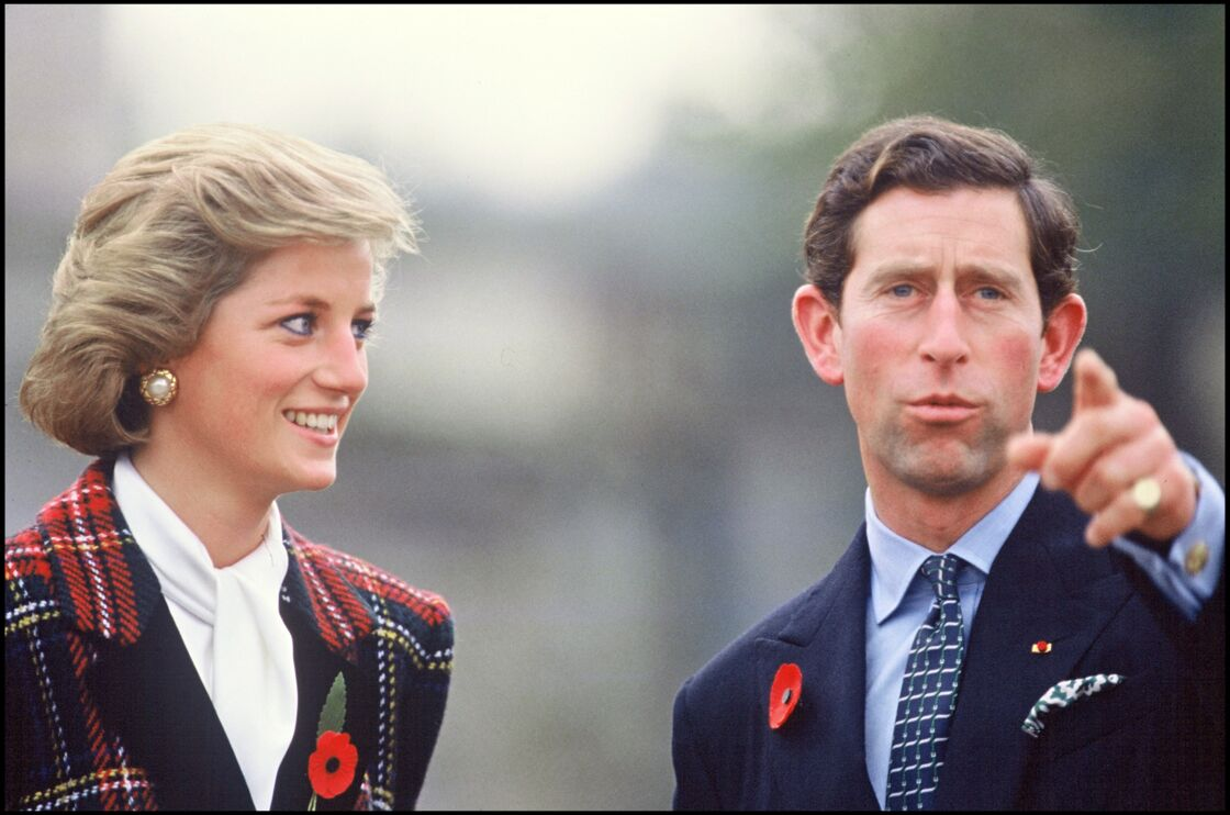 La princesse Diana et le prince Charles en 1988