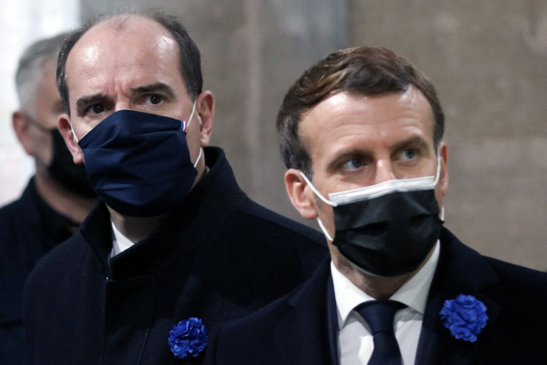Le Premier ministre Jean Castex et le président de la République Emmanuel Macron, le 11 novembre 2020