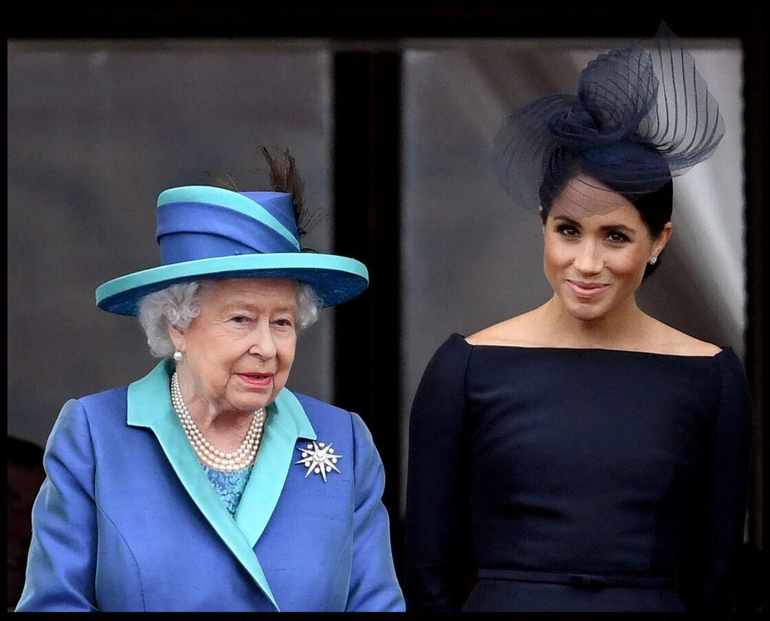 La reine Elizabeth II avec Meghan Markle