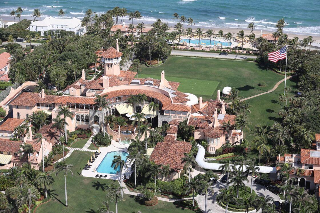 Photo aérienne du domaine Mar a Lago en Floride, propriété de Donald Trump