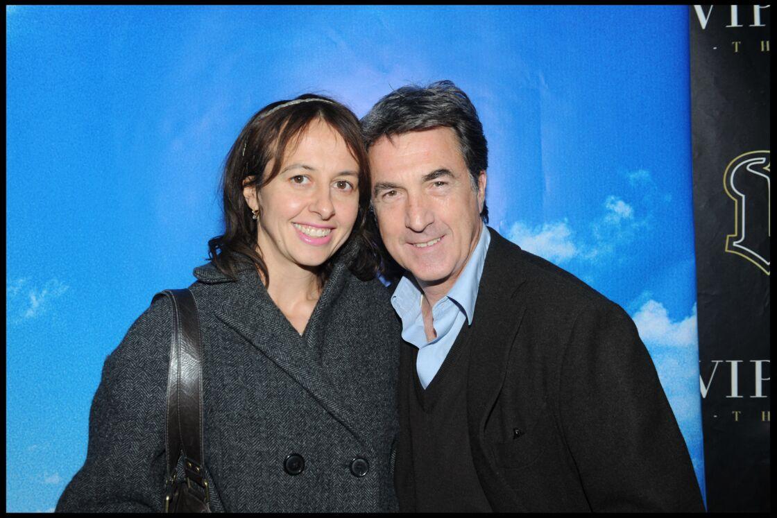 Valérie Bonneton et François Cluzet, réunis lors d'une soirée au VIP Room, à Paris, en 2009.