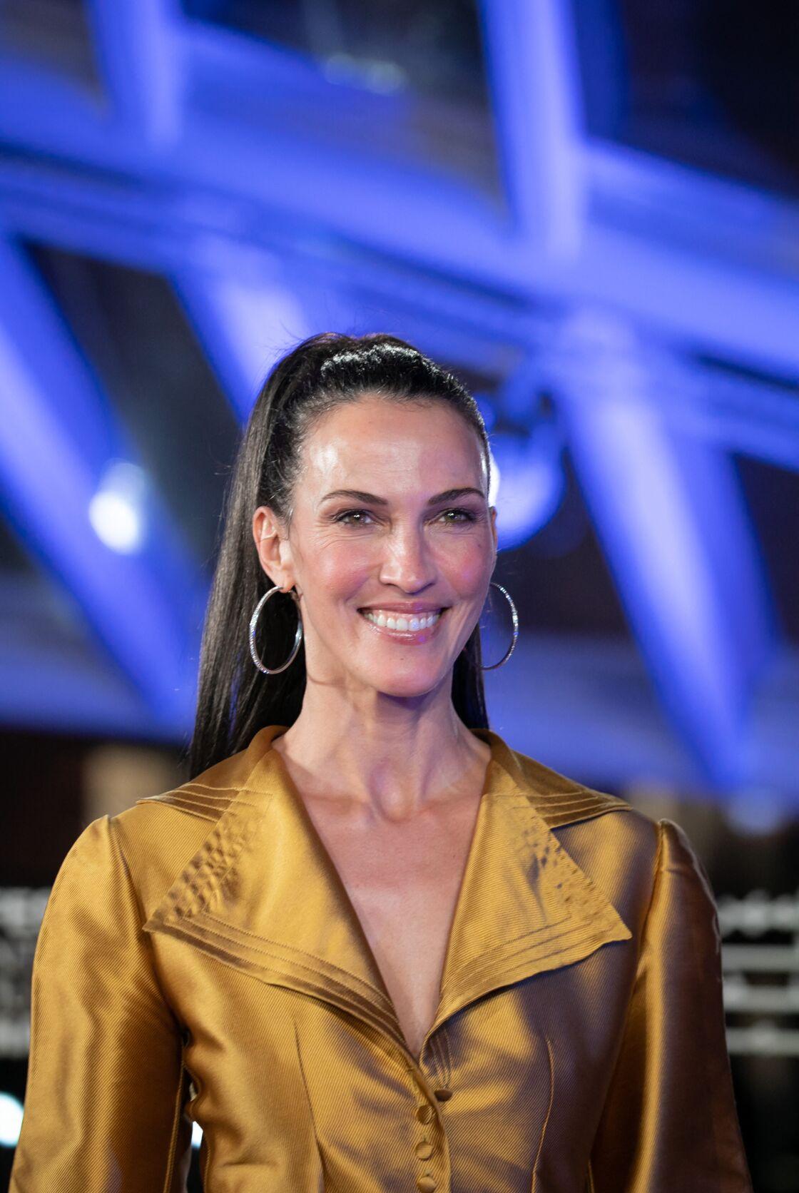 Linda Hardy (Miss France 1992) au photocall de la cérémonie d'ouverture de la 18ème édition du Festival International du Film de Marrakech (FIFM), le 29 novembre 2019.