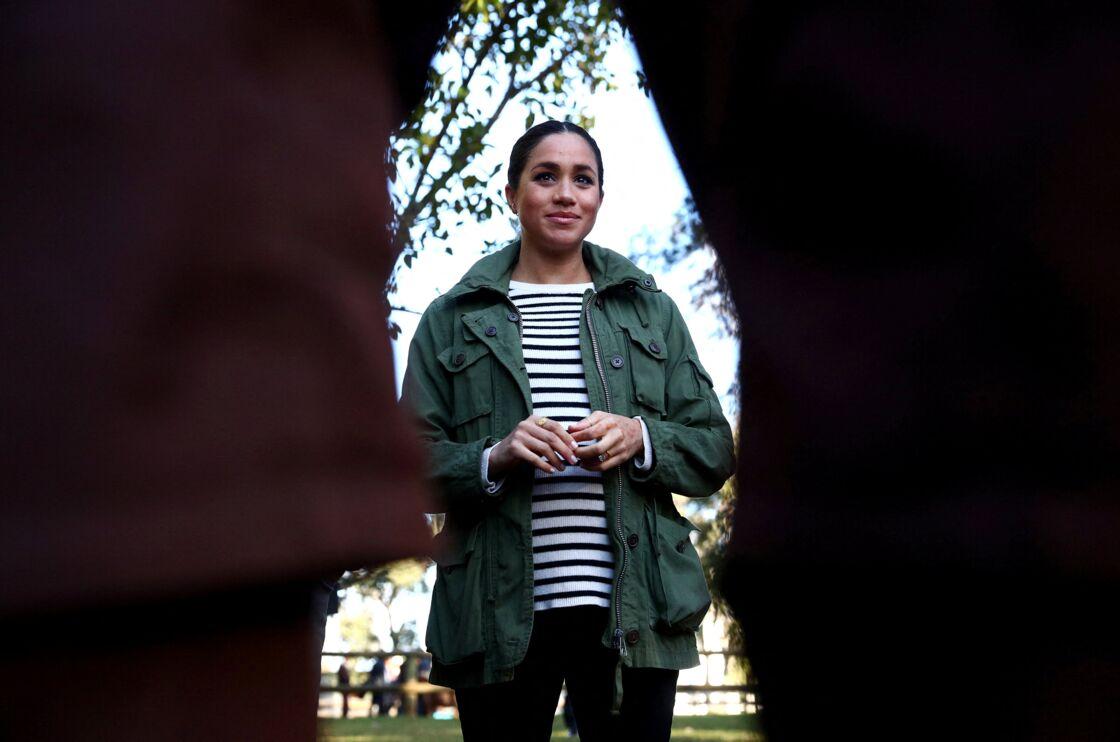 Meghan Markle en février 2019, enceinte de son premier fils Archie