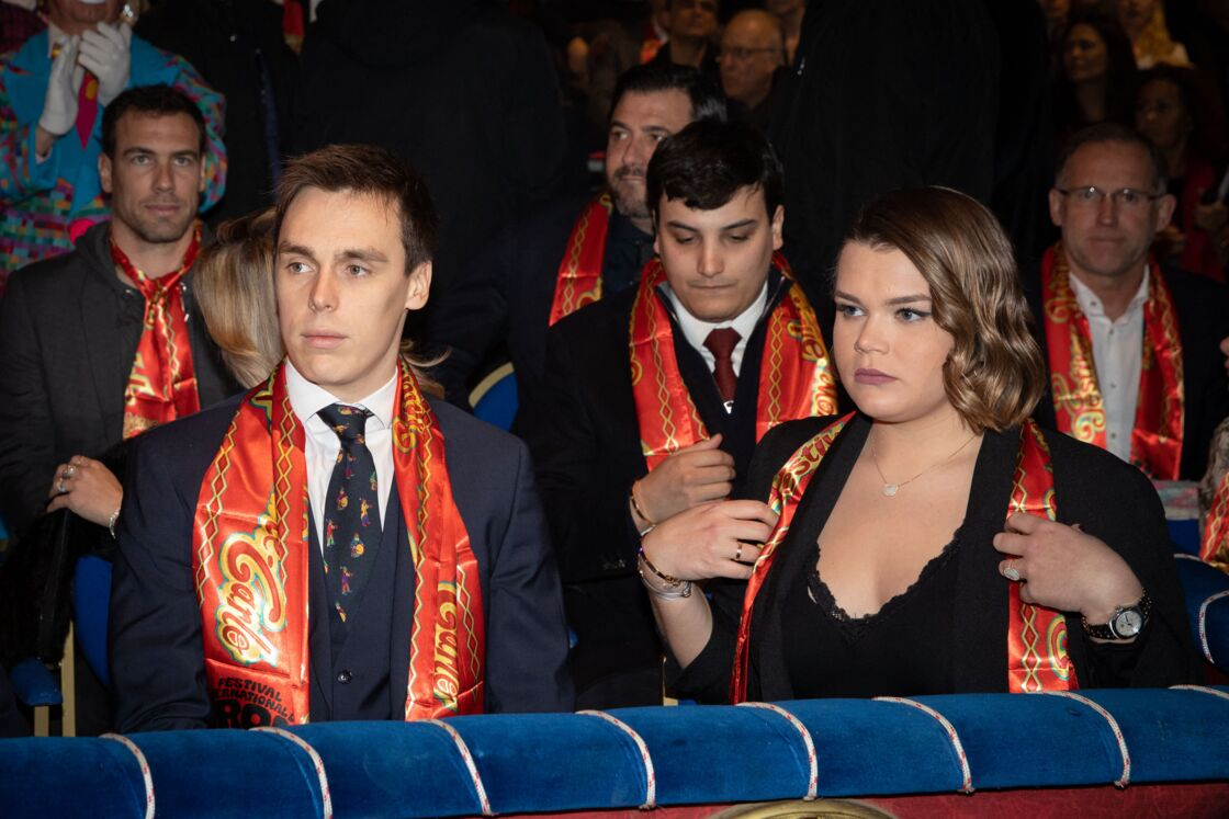 Louis Ducruet et Camille Gottlieb, lors de la soirée de Gala du 44ème Festival International du Cirque de Monte-Carlo, à Monaco, le 21 janvier 2020.