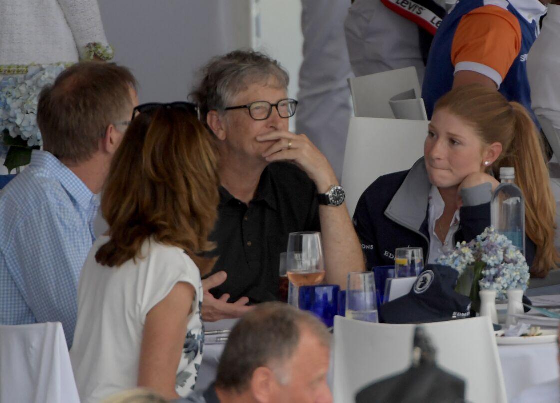 Bill Gates et sa fille Jennifer Gates - Les people lors du Longines Global Champions Tour finals 2019 à Miami Beach le 20 Avril 2019