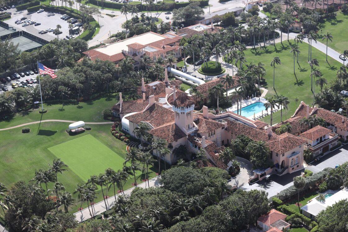 Le domaine Mar a Lago à Palm Beach en Floride, propriété de l'ancien président Donald Trump, le 1er mars 2021.