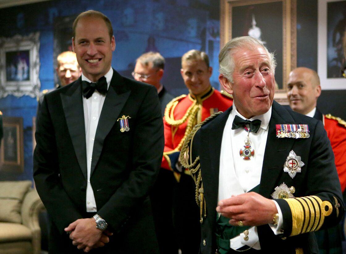Le prince William et le prince Charles lors du