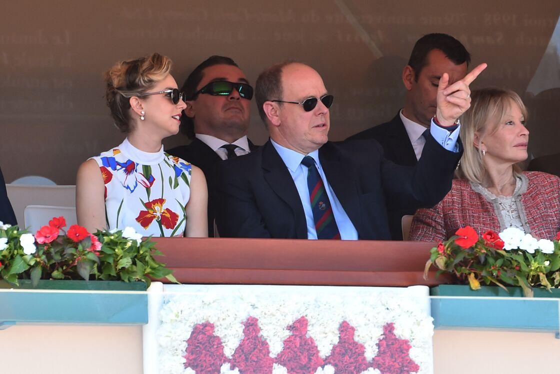 Jazmin Grace Grimaldi et son père Albert de Monaco en 2018.
