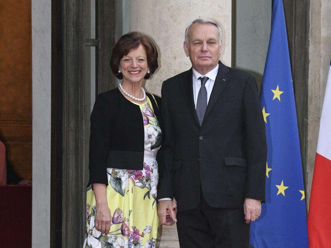 Jean-Marc Ayrault et sa femme Brigitte Ayrault au palais de l'Elysée à Paris, le 3 juin 2016.