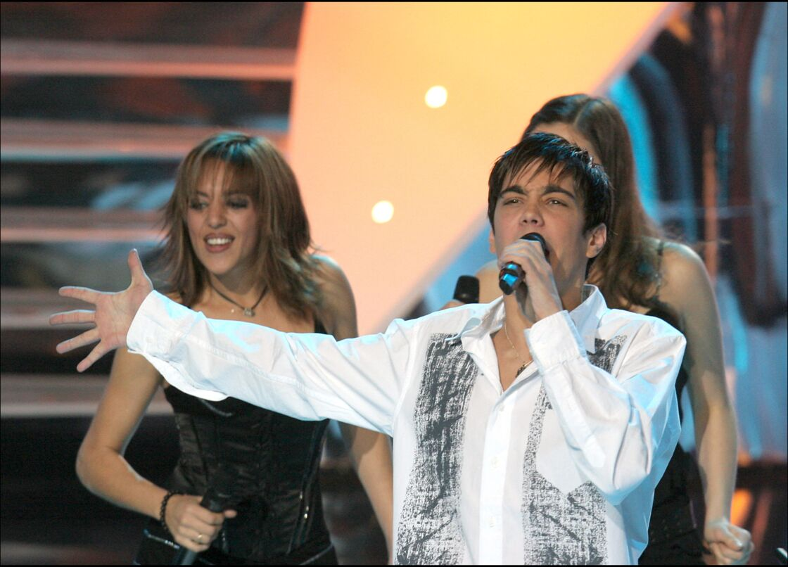 Grégory Lemarchal lors de la cérémonie Miss France 2005, en décembre 2004