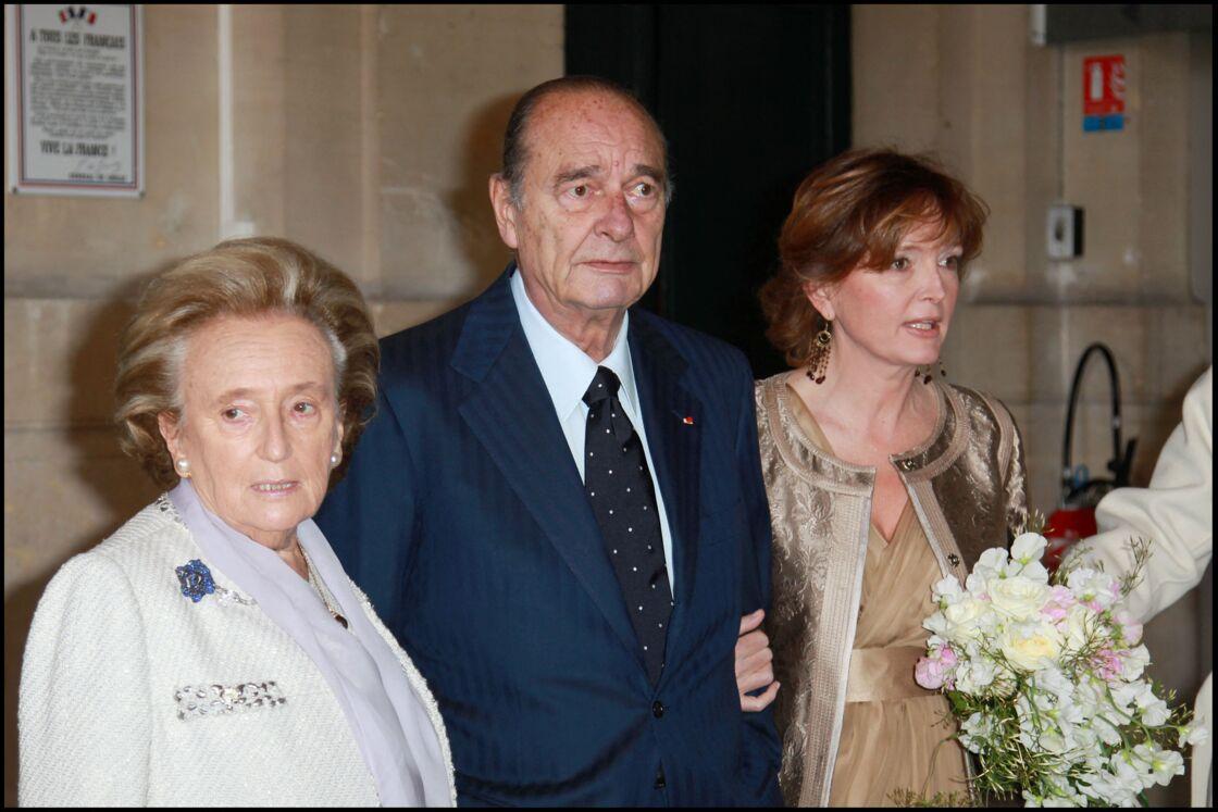 Bernadette et Jacques Chirac avec leur fille Claude en 2011.