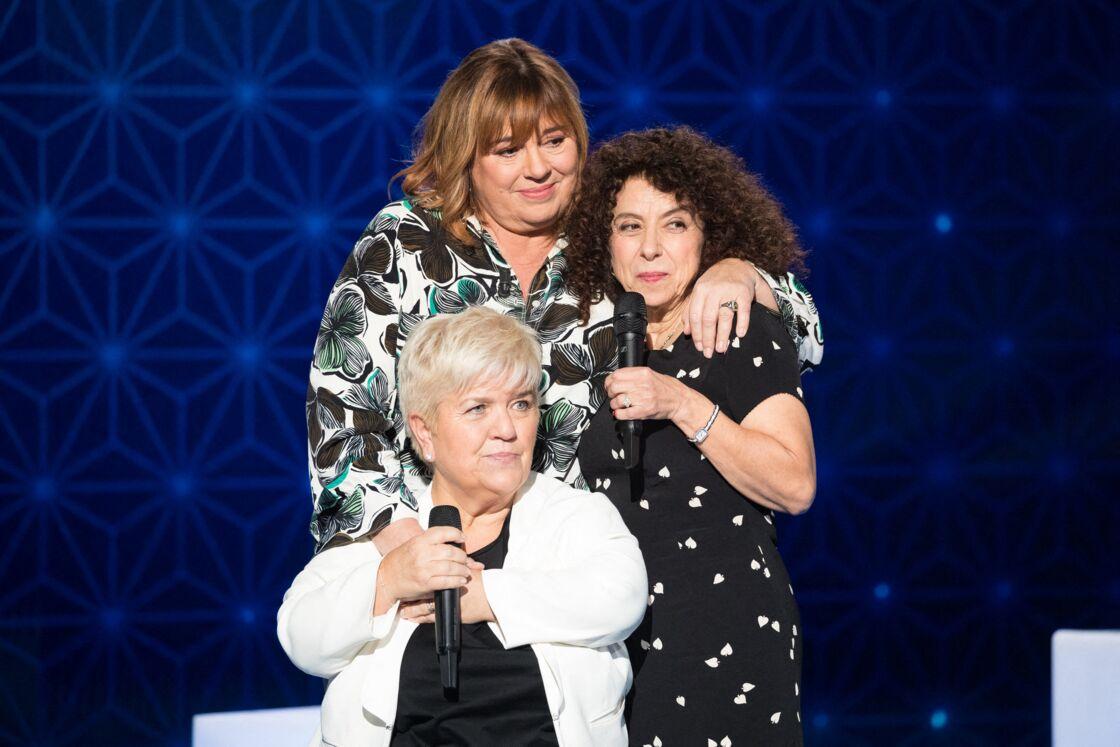 Michèle Bernier et sa surprise Mimie Mathy, Isabelle De Botton - Enregistrement de l'émission