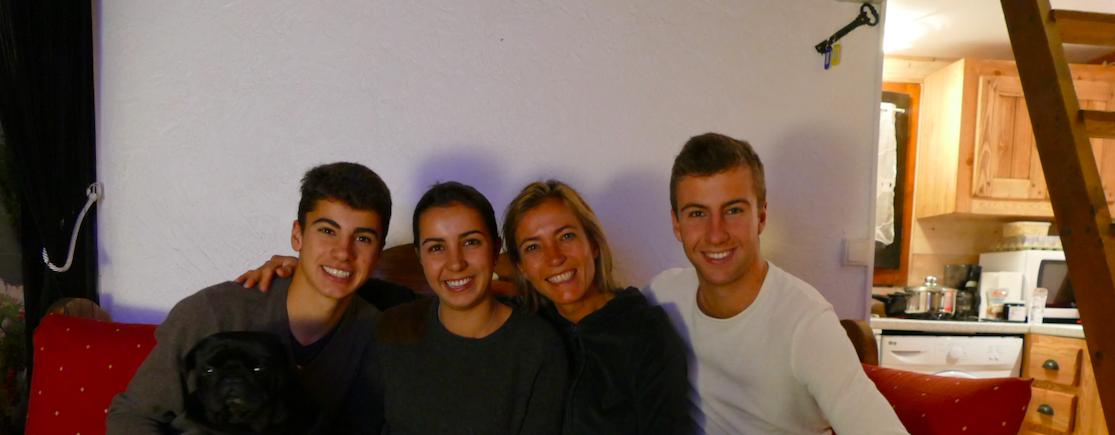 Gaëlle Voiry et ses trois enfants.