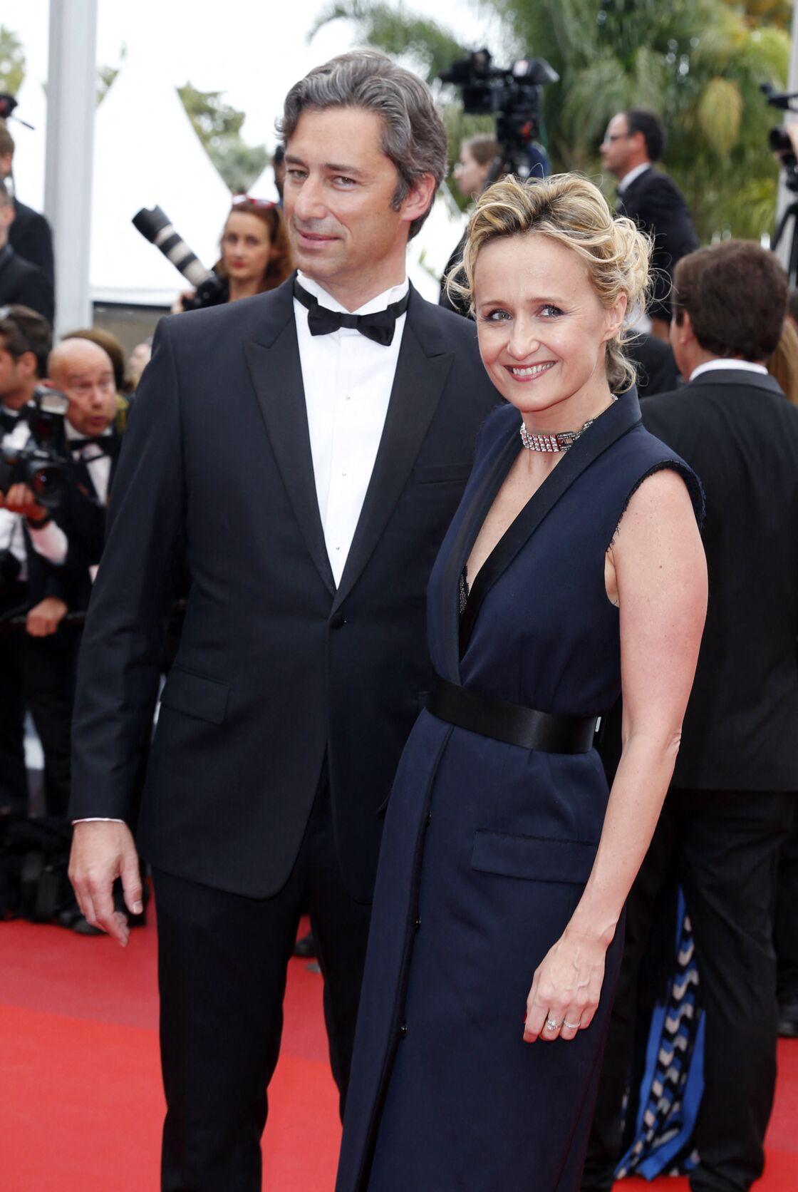 Caroline Roux et son mari, Laurent Solly, à Cannes, le 13 mai 2016