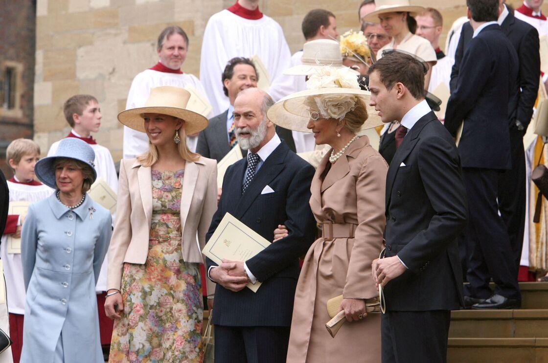 Le prince et la princesse Michael de Kent et leurs enfants au 80e anniversaire de la reine Elizabeth II à Windsor, en avril 2006