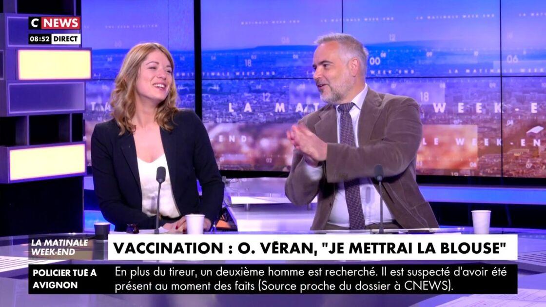 Maud Bregeon et Guillaume Bigot dans la Matinale de CNews, le 8 mai 2021