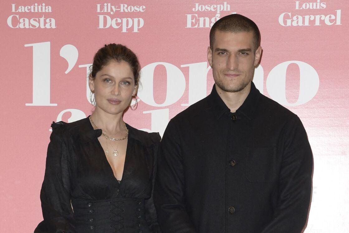 Laetitia Casta et son mari Louis Garrel, à Rome, en Italie, le 5 avril 2019