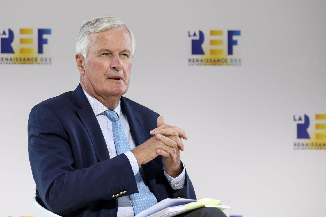 Michel Barnier, négociateur en chef de l'Union européenne pour le Brexit lors de la Rencontre des Entrepreneurs de France, à l'Hippodrome de Longchamp, à Paris, le 26 août 2020.