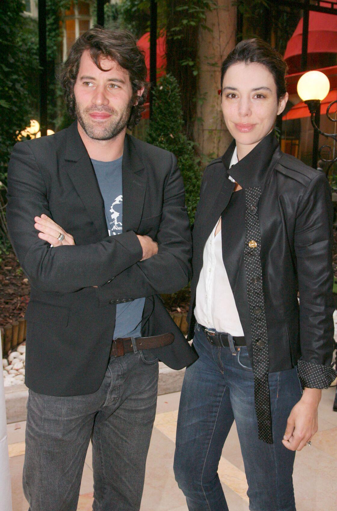 Jalil Lespert et Bérangère Allaux, en septembre 2008 au Plaza Athénée à Paris.