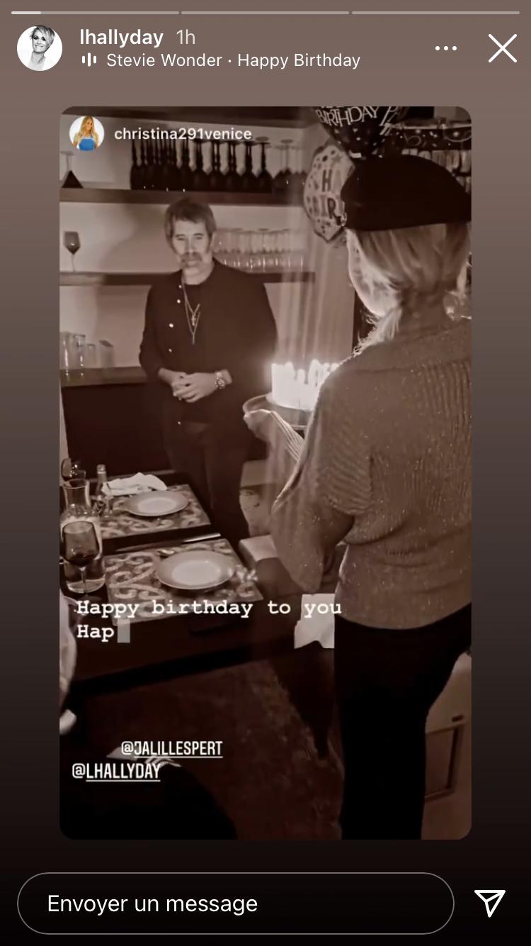 Story Instagram de Laeticia Hallyday