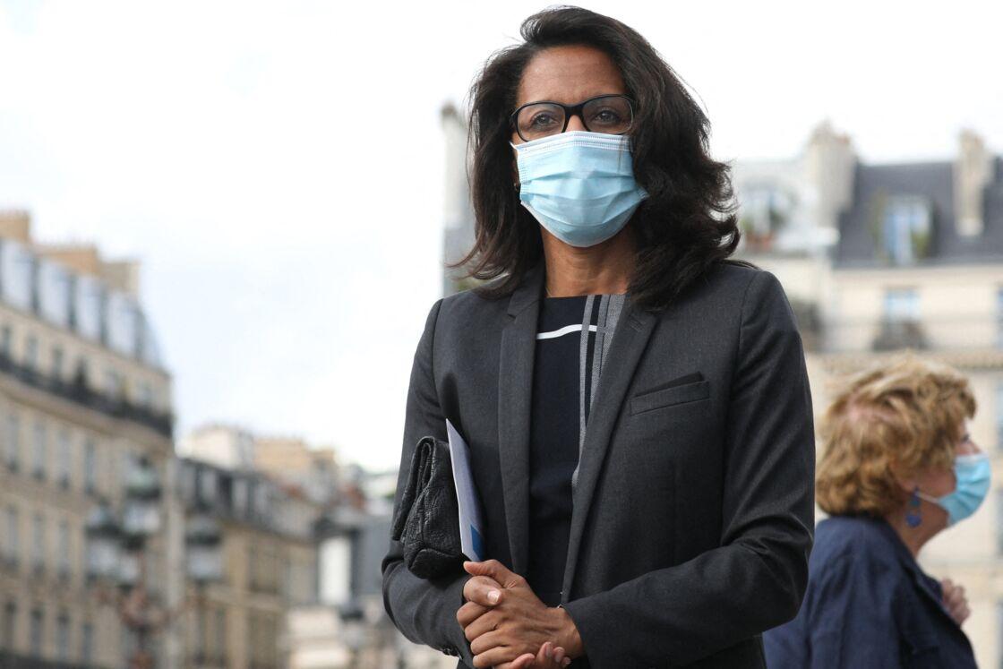 Audrey Pulvar - Cérémonie de commémoration du 76ème anniversaire de la Libération de Paris à la mairie de Paris, le 25 août 2020. © Stéphane Lemouton / Bestimage