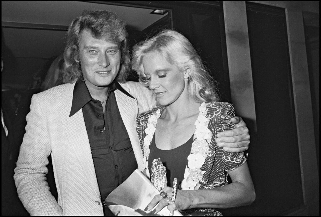 Johnny Hallyday et Sylvie Vartan au concert de Lola Beltran, en 1979.