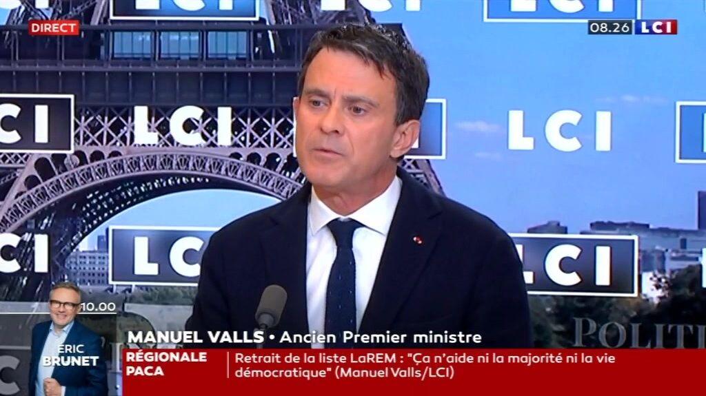 Manuel Valls a attaqué la majorité sur le plateau de LCI le vendredi 14 mai 2021