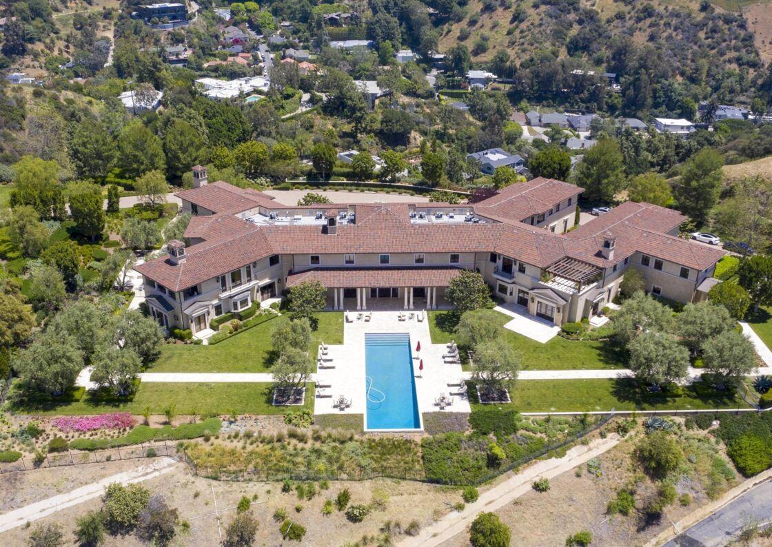 La maison de Tyler Perry, où ont vécu Meghan Markle et le prince Harry, à Los Angeles.