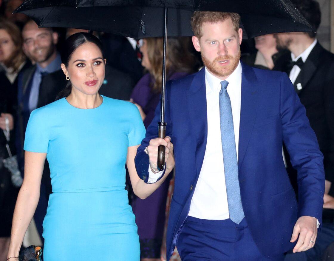 Meghan Markle et le prince Harry à Londres, en mars 2020.