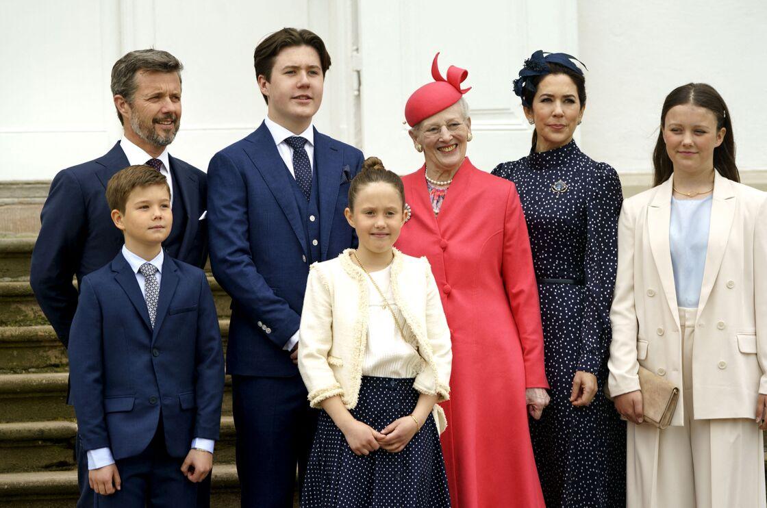 La famille royale du Danemark aux côtés du prince Christian, ce samedi 15 mai
