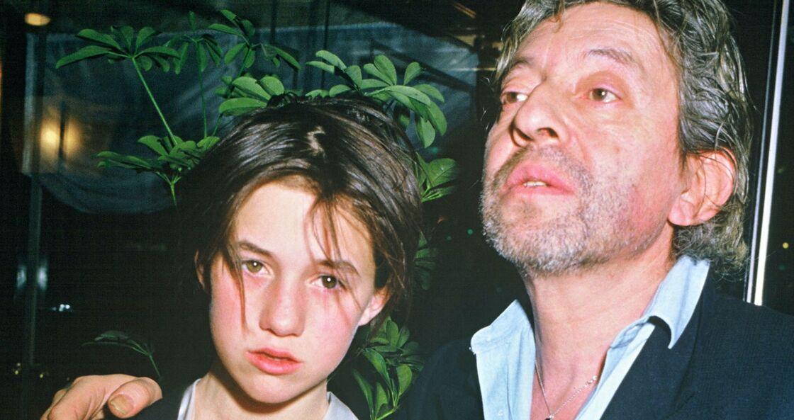 Charlotte Gainsbourg et son père Serge lors de la soirée des Césars en 1986
